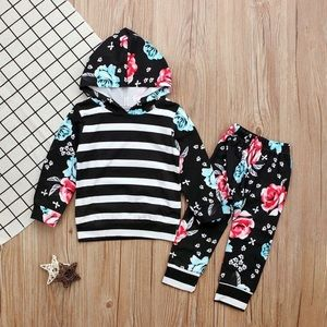 Other - Adorable 2 piece pants & hoodie outfit